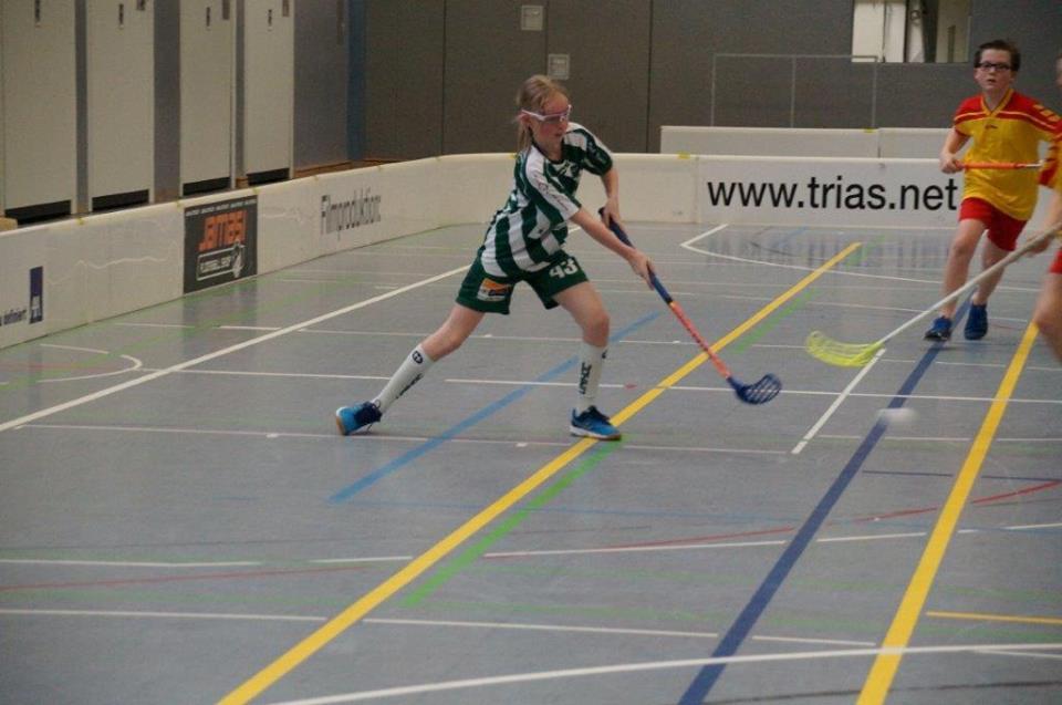 Eine der superstarken Floorball-Mädels: Mailin Reinartz