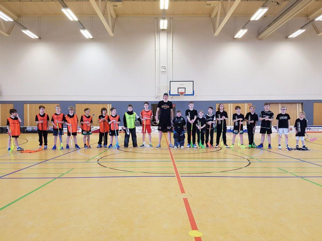 Floorball Camp 2018 Abschlussspiel