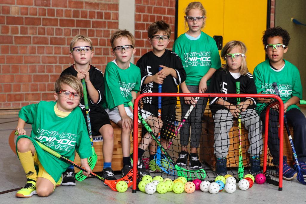 U7 Floorball Mannschaft Foto