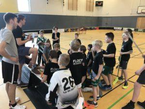 Floorball Camp 2019 auf dem Spielfeld