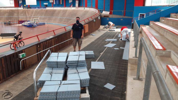 Mobiler Sportboden Floorball - Kleinspielfeld Outdoor
