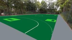 Planung und Animation des Street Floorball bzw. Outdoor Floorballfelds in Kaarst