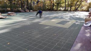 Floorball Outdoorfeld Verlegung