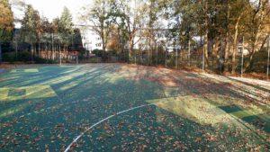 Floorball Outdoor Feld im Herbst 2020