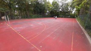 Floorball Outdoor Feld - Ausgangssituation vor Sportcourt Gerflor Powergame Verlegung