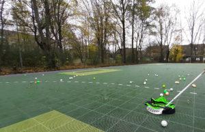 Floorball Outdoor - Foto mit UNIHOC Tasche und Schläger